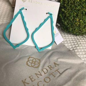 Kendra Scott Sophee Earrings Turquoise Matte NWT